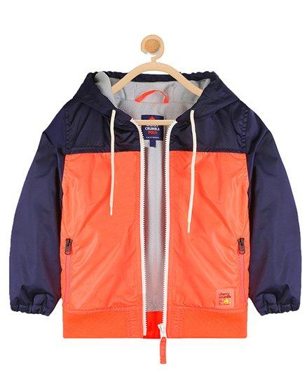 Cherry Crumble California Sporty Vibe Jacket - Orange & Blue