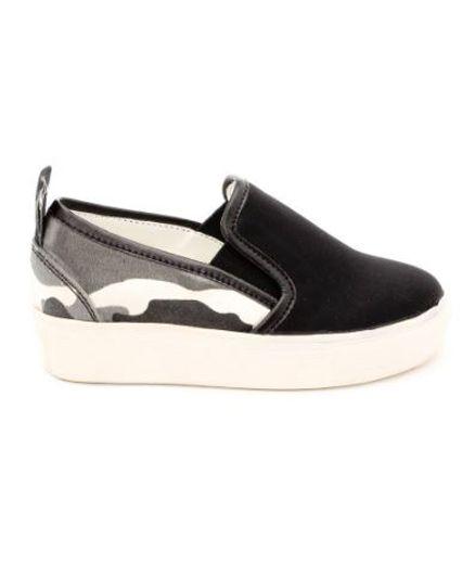 Naughty Feet Stylish Slip Ons - Black