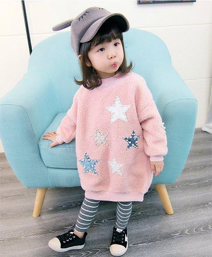 Pre Order - Awabox Star Design Sweatshirt - Pink
