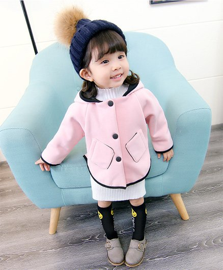 Pre Order - Awabox Basic Buttoned Jacket - Pink