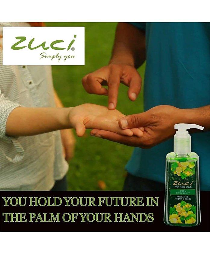 Zuci Cool Citrus Mint Pump Hand Wash - 250 ml