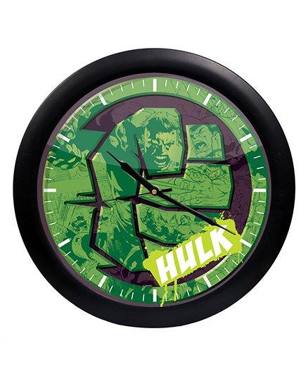 Orka Hulk Printed Analog Wall Clock - Green Black