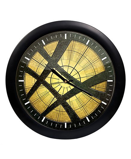 Orka Spiderman Printed Analog Wall Clock - Black
