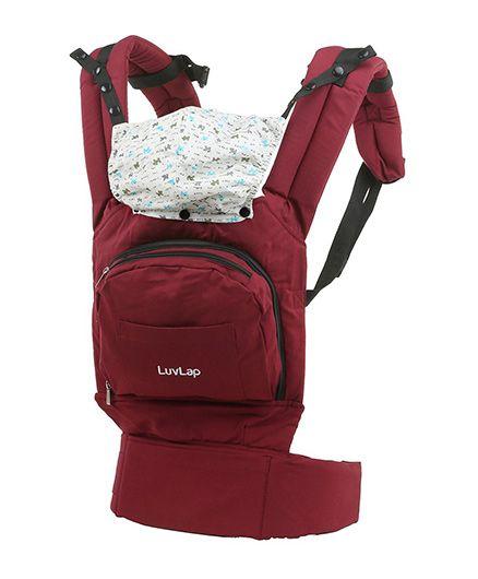 LuvLap Elite 3 Way Baby Carrier - Dark Red