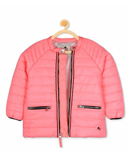 Cherry Crumble California Cosy Lightweight Jacket - Light Pink