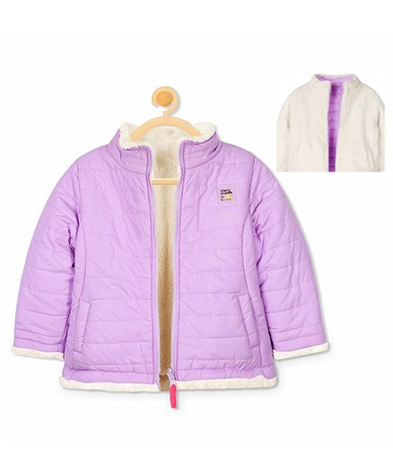 Cherry Crumble California Reversible Gamer Jacket - Purple & White