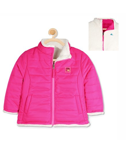 Cherry Crumble California Reversible Sherpa Jacket - Pink