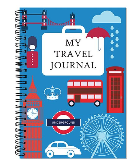 Little Jamun My Travel Journal London Theme - Blue