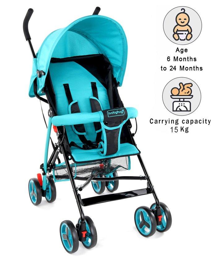 Babyhug Agile Baby Stroller Buggy - Blue & Black
