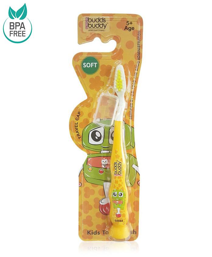 Buddsbuddy Gibba Design Tooth Brush - Yellow