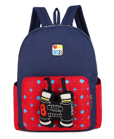 Abracadabra Kids Backpack Binocular 3D Toy Blue Red - Height 11 inches