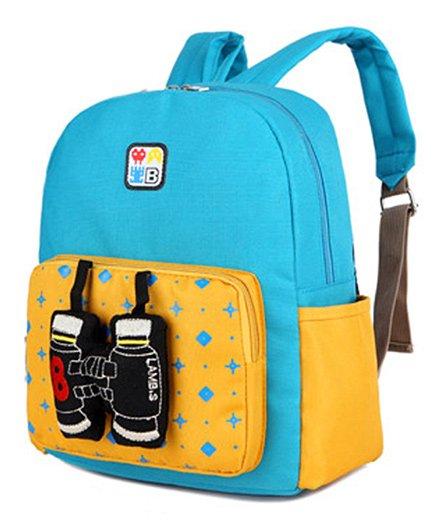 Abracadabra Kids Backpack Binocular 3D Toy Blue Yellow - Height 11 inches