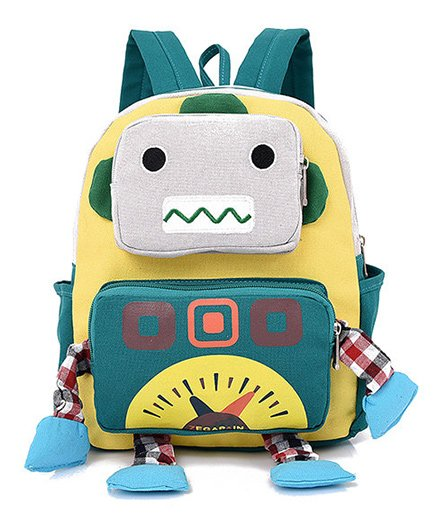 Abracadabra Kids Robot 3D Toy Backpack Yellow - Height 10 inches