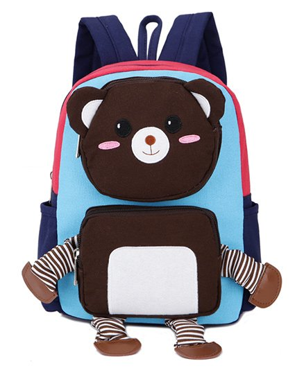 Abracadabra Kids Teddy 3D Pop Out Backpack Blue - Height 10 inches