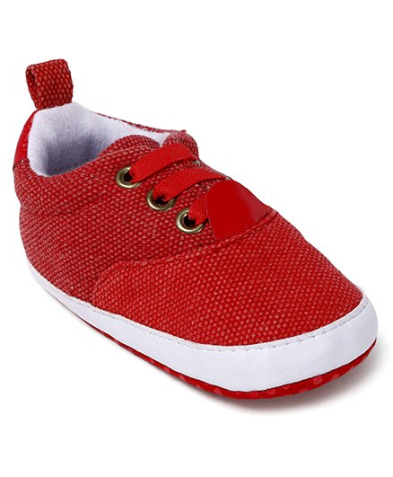 Cute Walk by Babyhug Shoes Style Booties - Red White