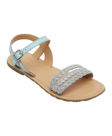 Aria Nica Bella Sandals Buckle Closure - Blue & Grey