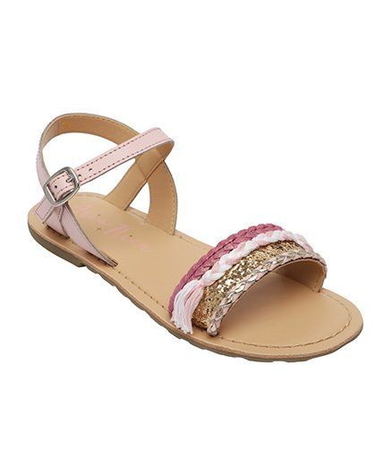 Aria Nica Shimmer Sandals - Light Pink