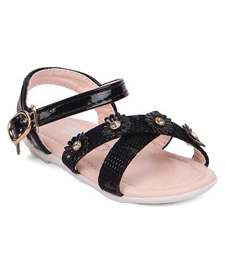 220873b006f5a0 60%off Cute Walk by Babyhug Sandals Floral Motifs - Black