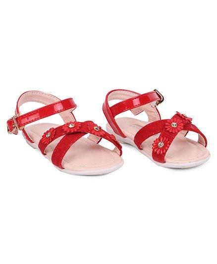 Cute Walk by Babyhug Sandals Floral Motifs - Red