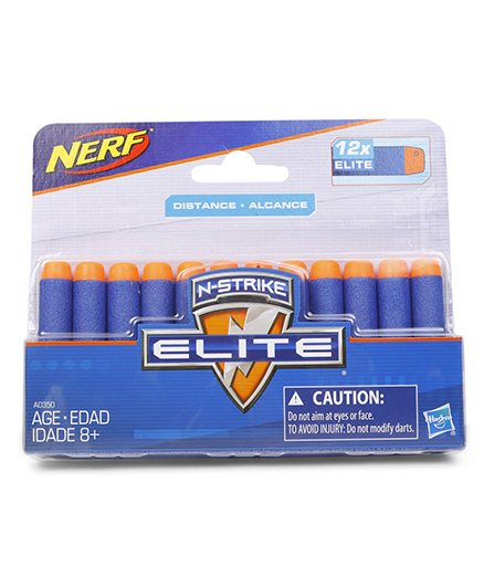 Nerf N Strike Elite Darts Blue Orange - Pack of 12