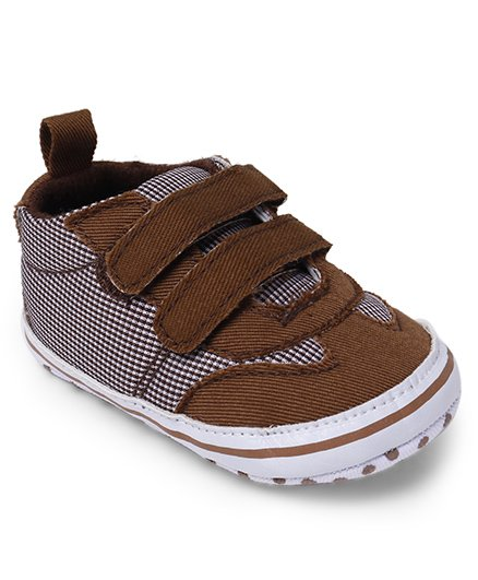Cute Walk by Babyhug Shoes Style Check Booties - Brown