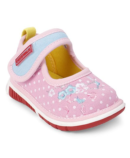 Cute Walk by Babyhug Casual Shoes Floral Embroidery - Light Pink
