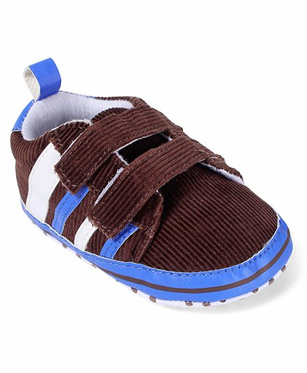 Cute Walk by Babyhug Shoes Style Booties - Brown Blue