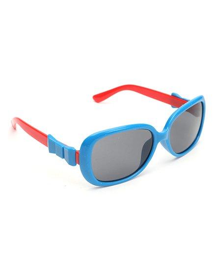 Babyhug Bow Applique Sunglass - Blue Red