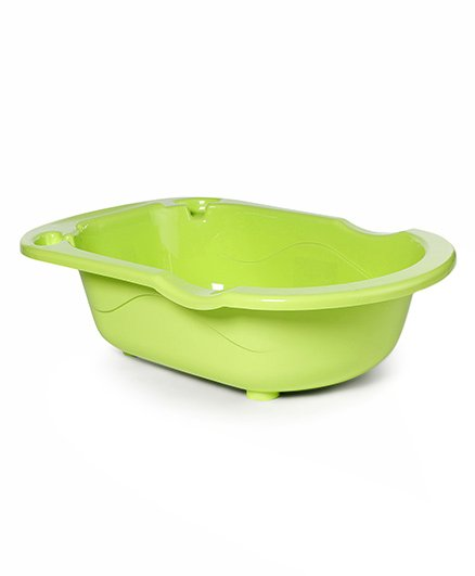 Rabbit Printed Baby Bath Tub - Green