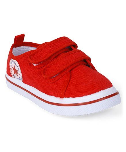 Cute Walk by Babyhug Casual Shoes Double Velcro Closure - Red