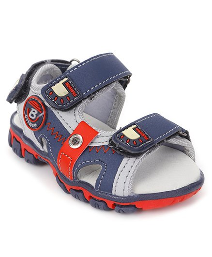 Cute Walk by Babyhug Sandals With Double Velcro Closure - Navy Blue