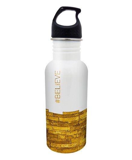 Hot Muggs Stainless Steel Water Bottle Believe Print - 600 ml