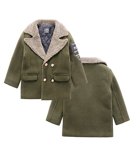 Pre Order - Awabox Buttoned Trench Coat - Green