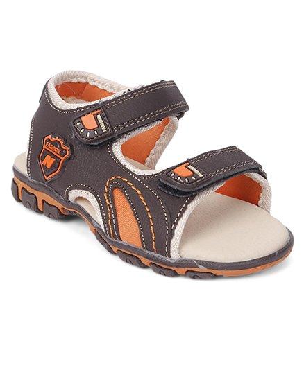 Cute Walk by Babyhug Sandals - Brown Orange