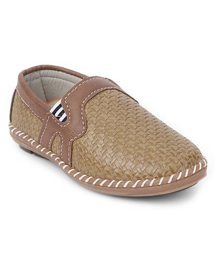 Cute Walk by Babyhug Slip On Loafers - Light Brown