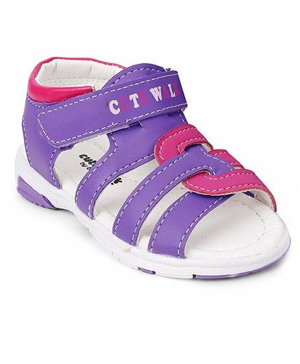 Cute Walk by Babyhug Sandals - Purple Dark Pink