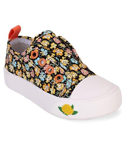 Cute Walk by Babyhug Shoes Floral Print - Orange & White