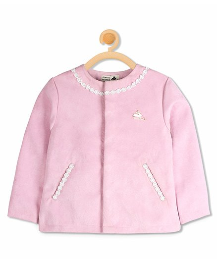 Cherry Crumble California Pretty Lace Coat - Pink