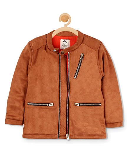 Cherry Crumble California Suede Metallic Jacket - Brown