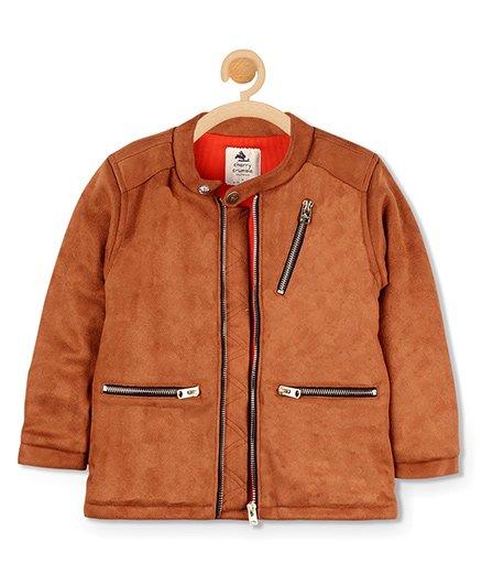 Cherry Crumble California Suede Metallic Jacket - Brown