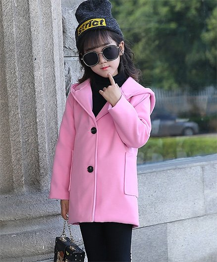 Pre Order - Awabox Basic Design Trench Coat - Pink