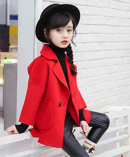 Pre Order - Awabox Stylish Trench Coat - Red