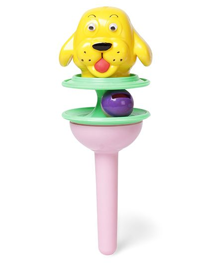 Ratnas Lolly Pop Rattle Green Pink Yellow - Height 20 cm