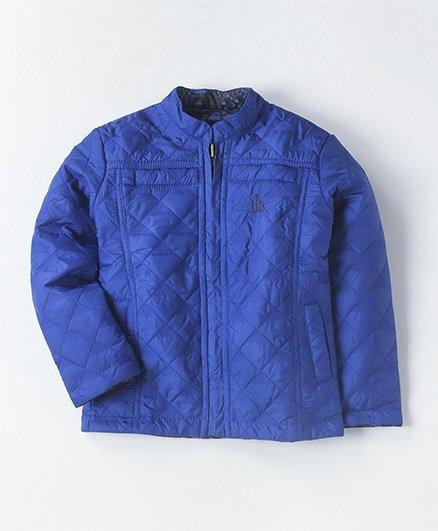 UFO Full Sleeves Stylish Winter Jacket - Blue