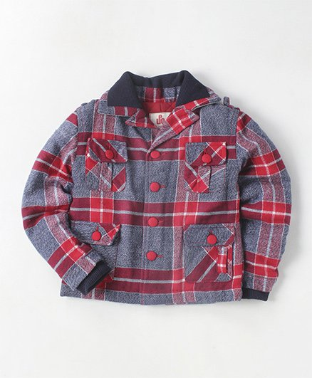 UFO Palid Jacket With Pockets - Red