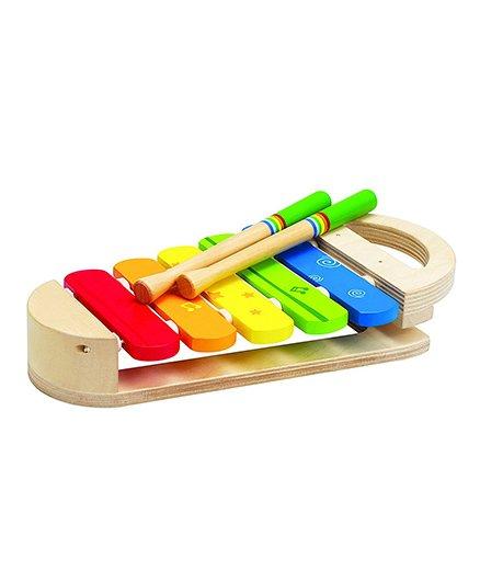 Hape Rainbow Xylophone With Sticks - Multicolour
