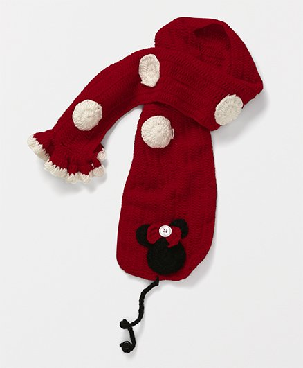 Mayra Knits Cartoon Muffler - Red & Black