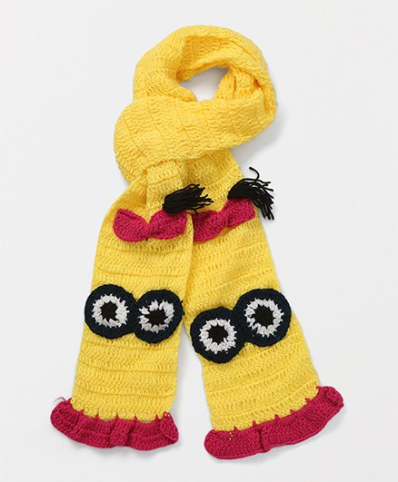 Mayra Knits Cartoon Muffler - Yellow