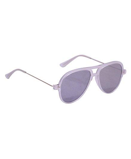 Spiky Classic Aviator Kids Sunglasses - Silver