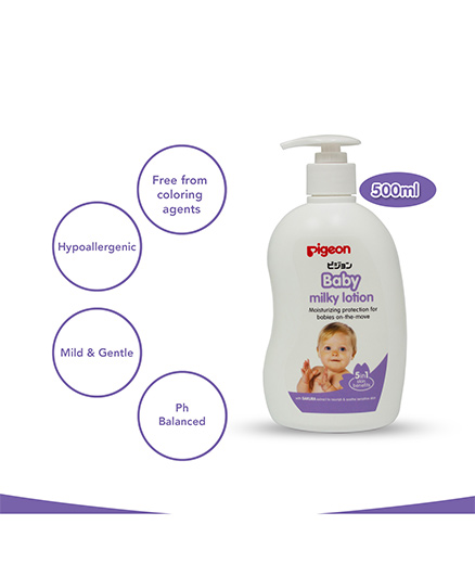 Pigeon Baby Milky Lotion 5 In 1 White - 500 Ml